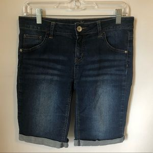 Justice jean shorts dark wash girls 16R